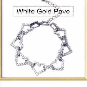 T&J Designs Silver Link Heart Bracelet